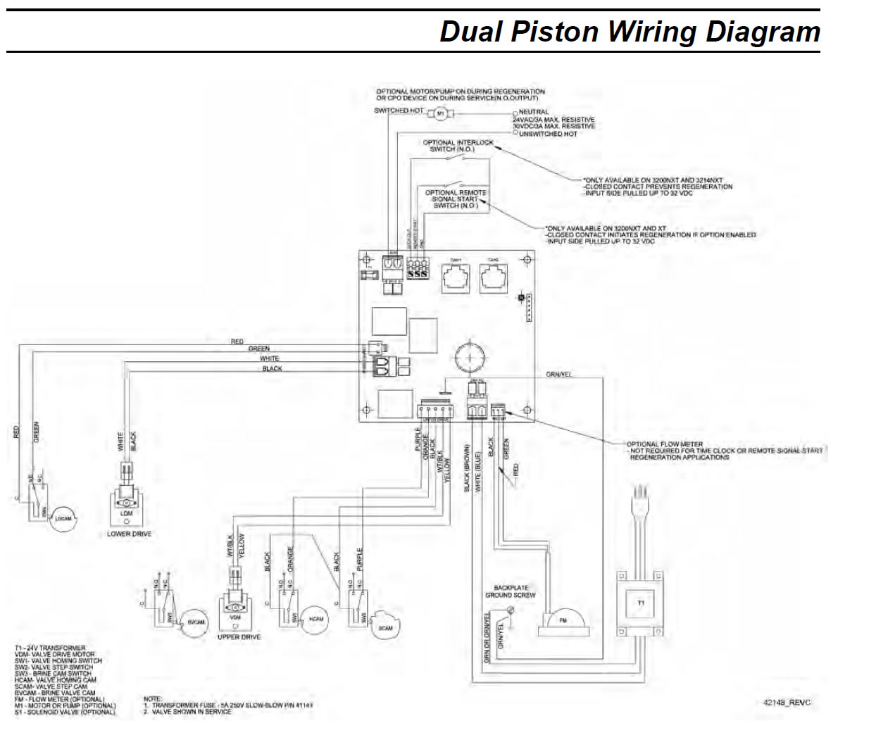 dual wiring fleck 9000 water softener control valve hydromatic pump wiring diagram at readyjetset.co
